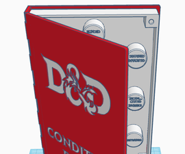 Tinkercad - Book Storage Container for RPG Condition Rings