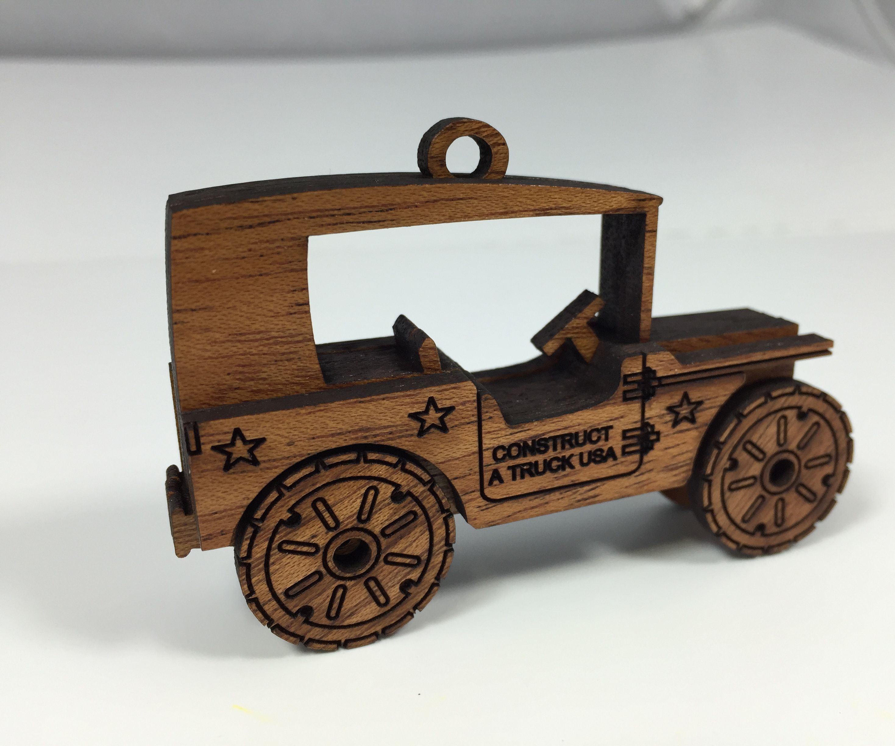 Lasercut Jeep Ornament