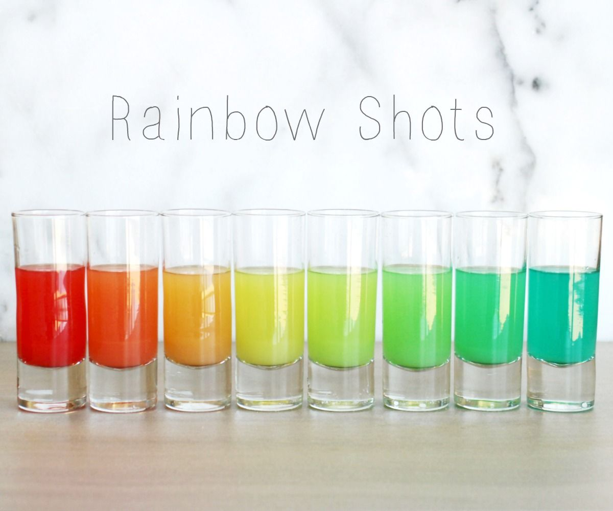 How to Make Rainbow Shots