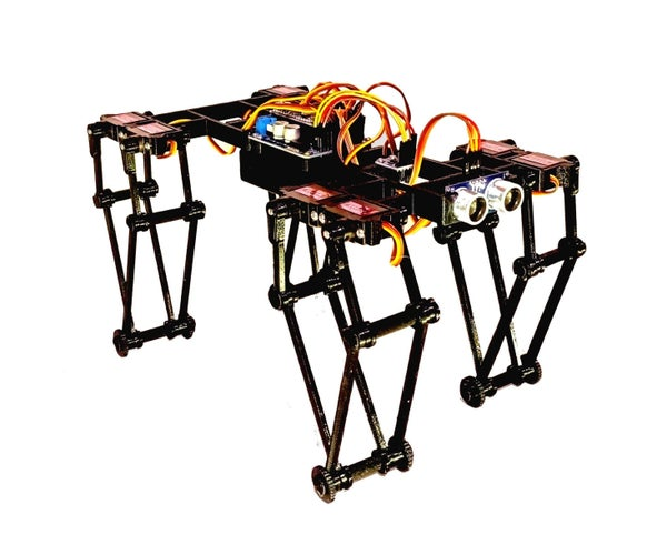 GorillaBot the 3D Printed Arduino Autonomous Sprint Quadruped Robot