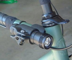 (Yet Another) Simple LED Flashlight Bike Light