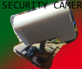 Rotating Cardboard Security Camera: Ceiling or Table With Plans
