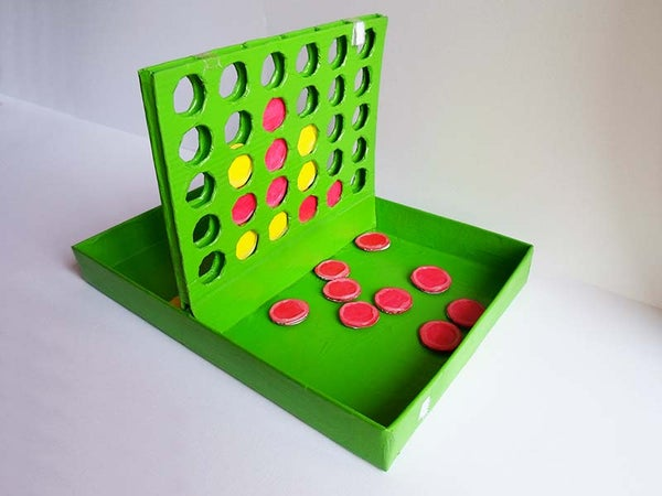 Cardboard Connect Four