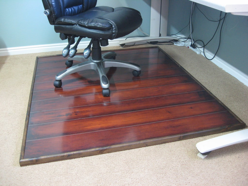Wooden Chair Mat 6 Steps With, Office Chair Mat For Laminate Flooring