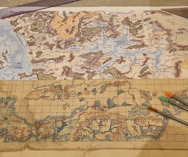 D&D Canvas Fantasy Map