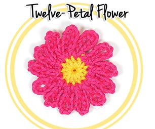 How to Crochet a Twelve Petal Flower