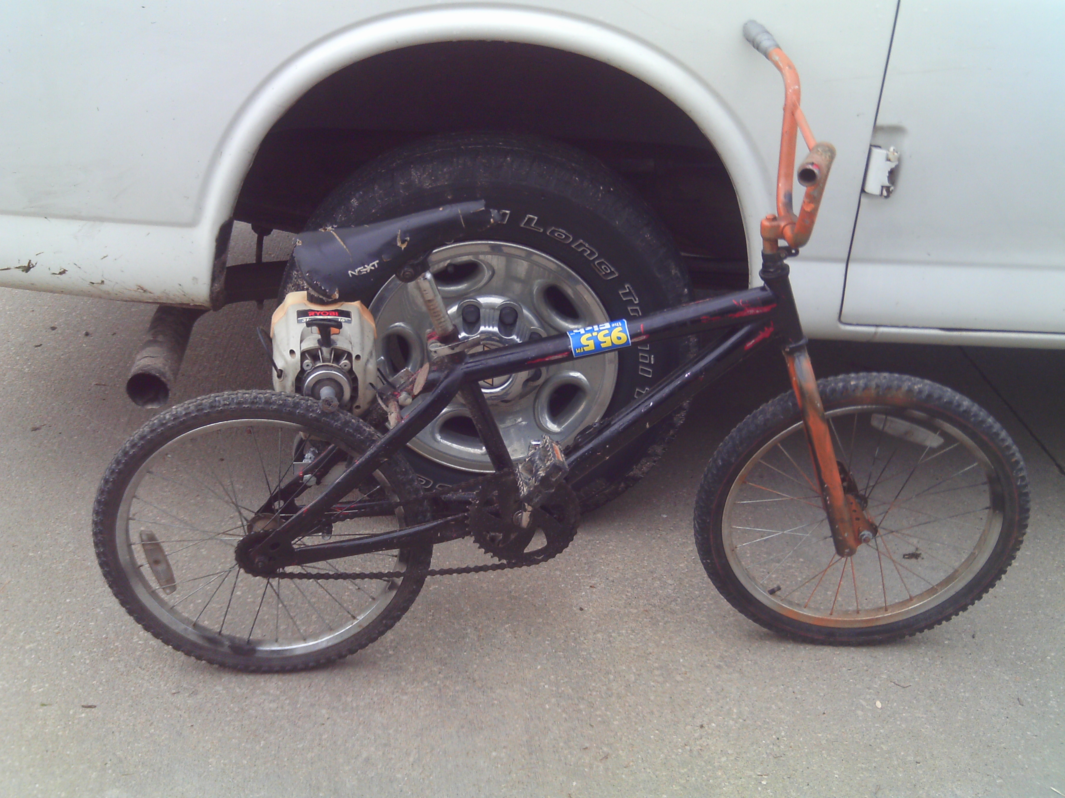 Weed whacker bike!!