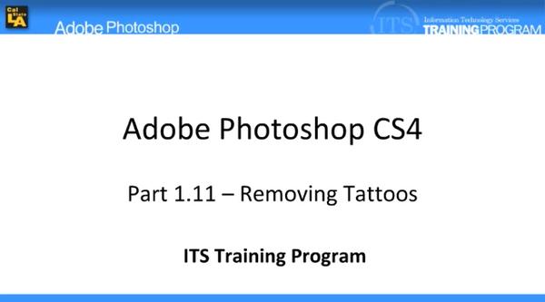 Removing Tattoos: Adobe Photoshop (1.11)
