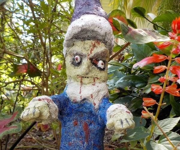 Halloween Zombie Garden Gnome