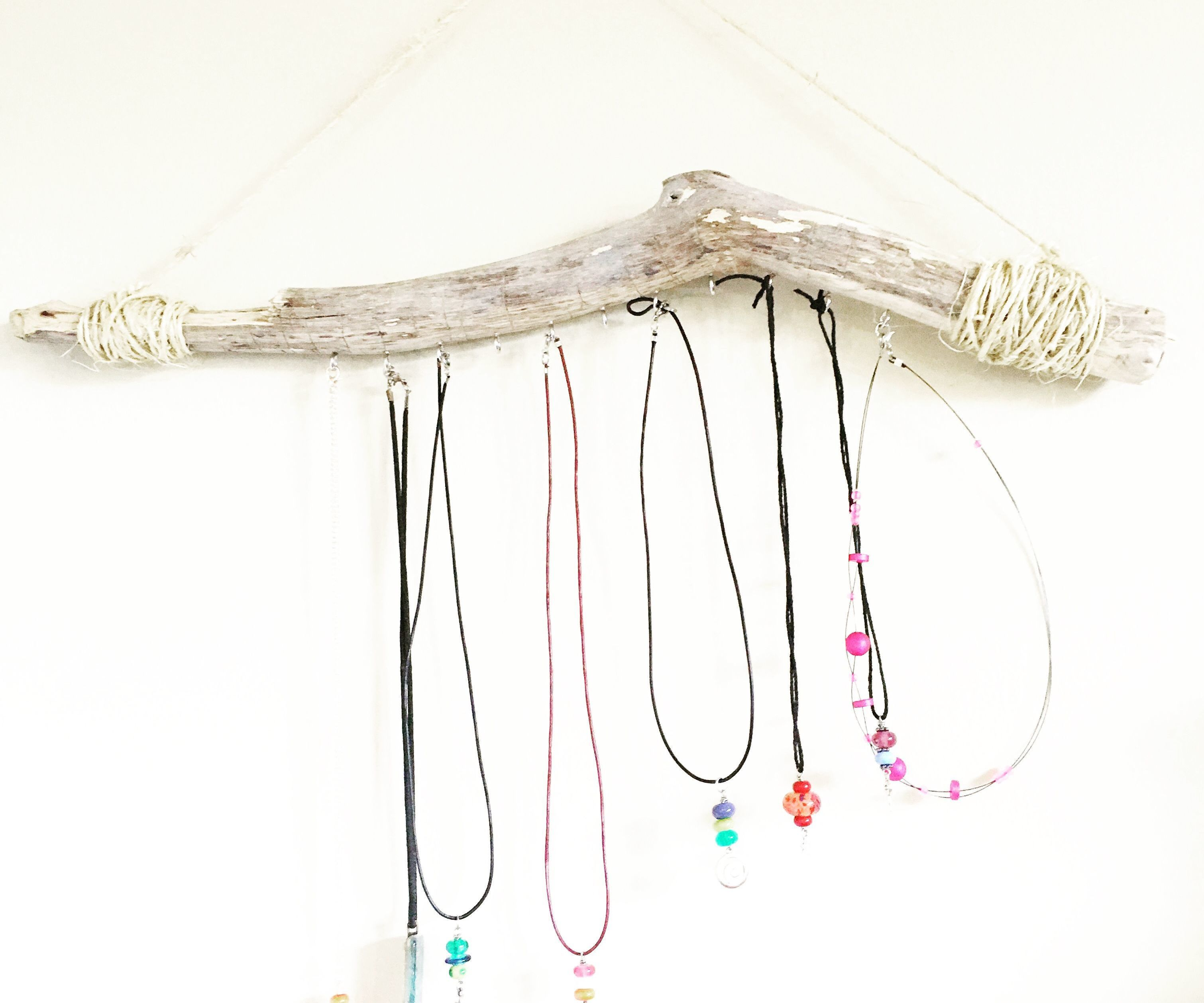 Faux Driftwood Jewelry Branch