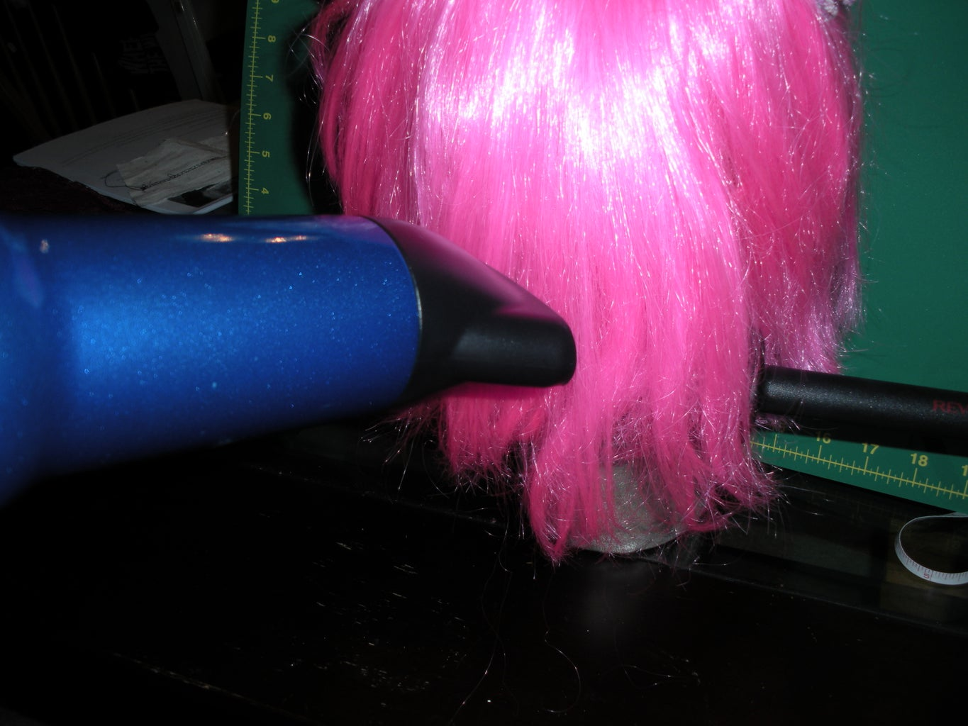 Step 5 - Styling the Wig and Attatching the Ears.