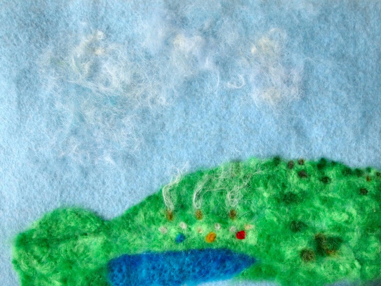 Hills, Lake, Hobbit Holes and Clouds