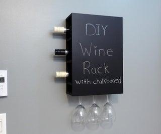 Wine Rack W/ Chalkboard
