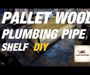 PALLET WOOD / PIPE SHELF