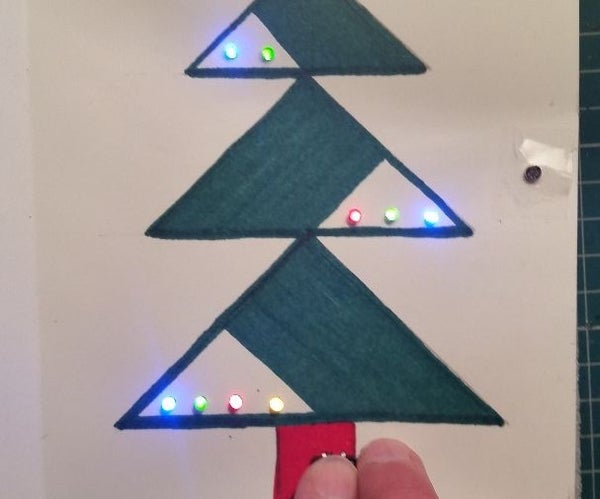Christmas Card With Colored LEDs