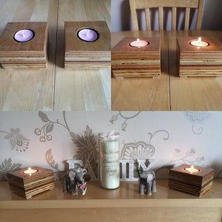 Nice Candleholders From Scrap Wood