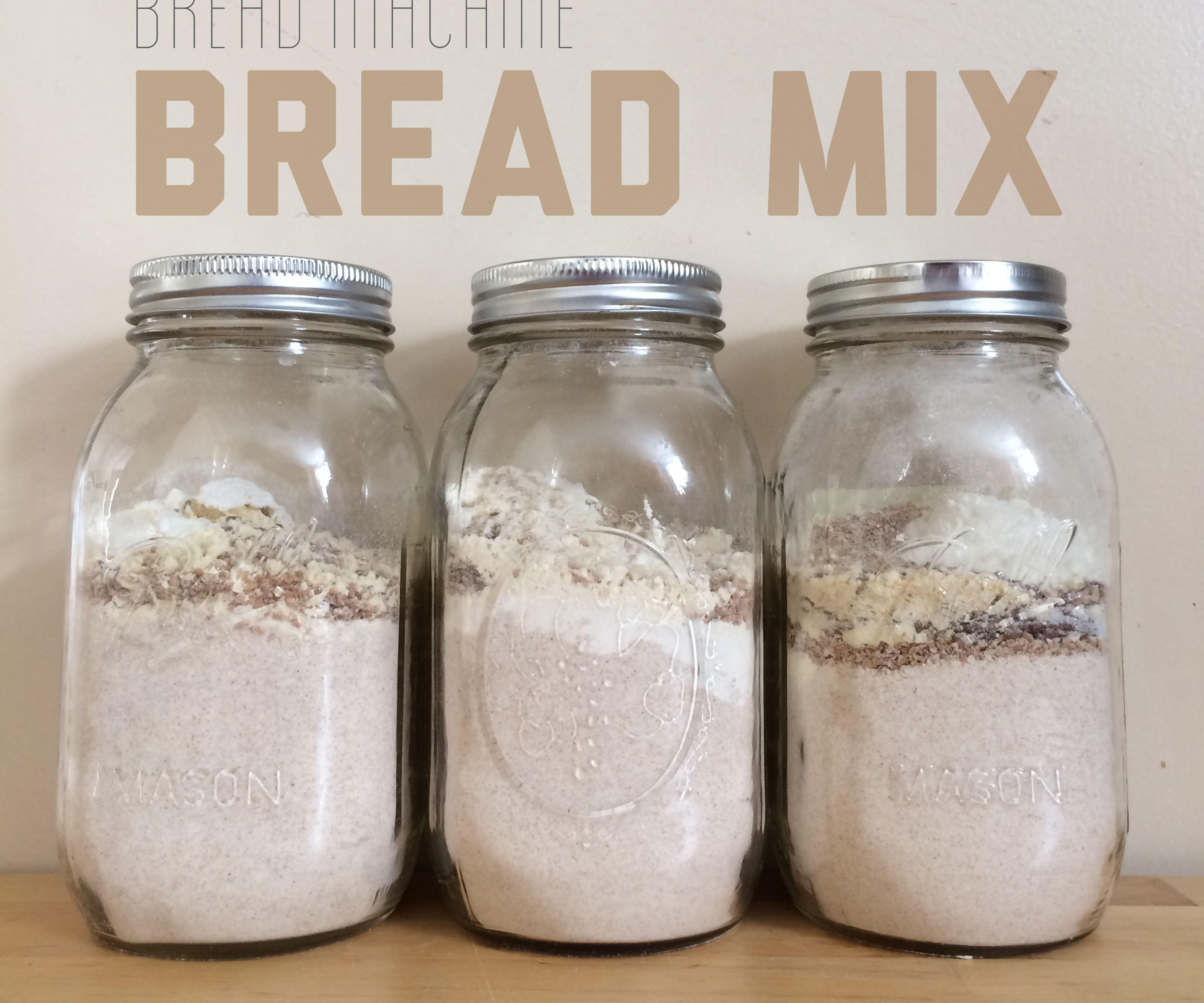 DIY Bread Machine Bread Mix in a Mason Jar
