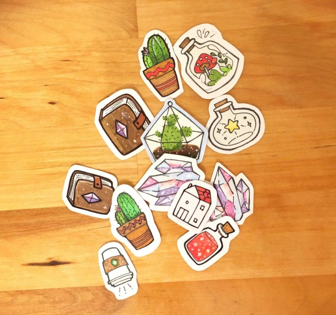 En Utilisant Vos Autocollants / Using Your Stickers