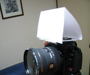 DIY Digital SLR Built In-flash Diffuser