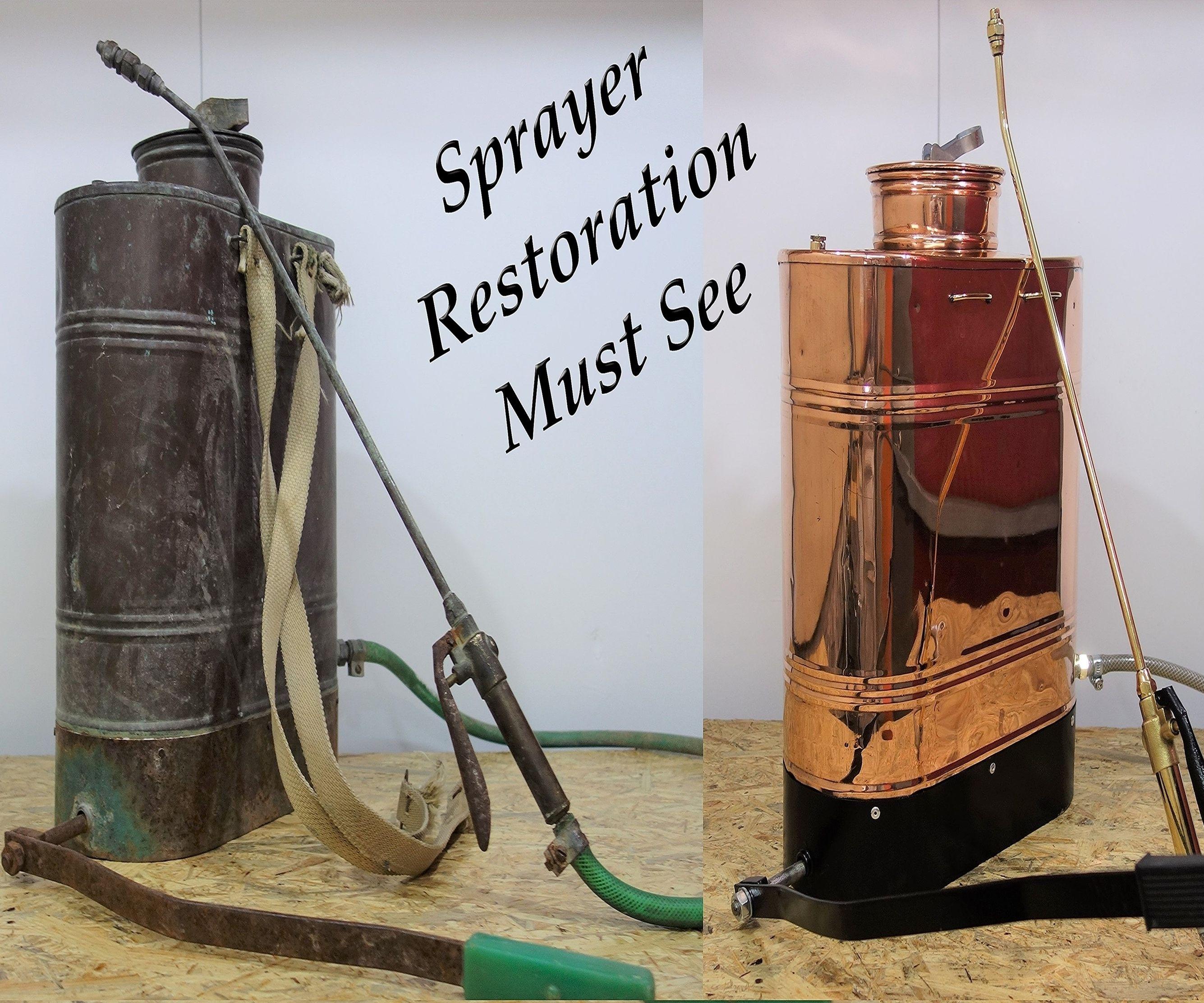 Vintage Oxidized Backpack Sprayer Impressive Restoration