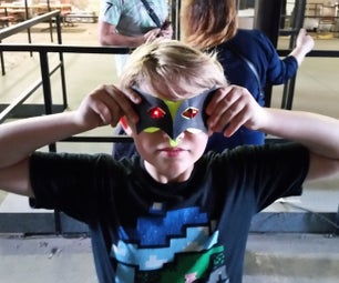 Paper Masks With LED Eyes Using Conductak!