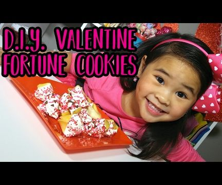 DIY Valentine Fortune Cookies | Chocolate-Dipped Fortune Cookies