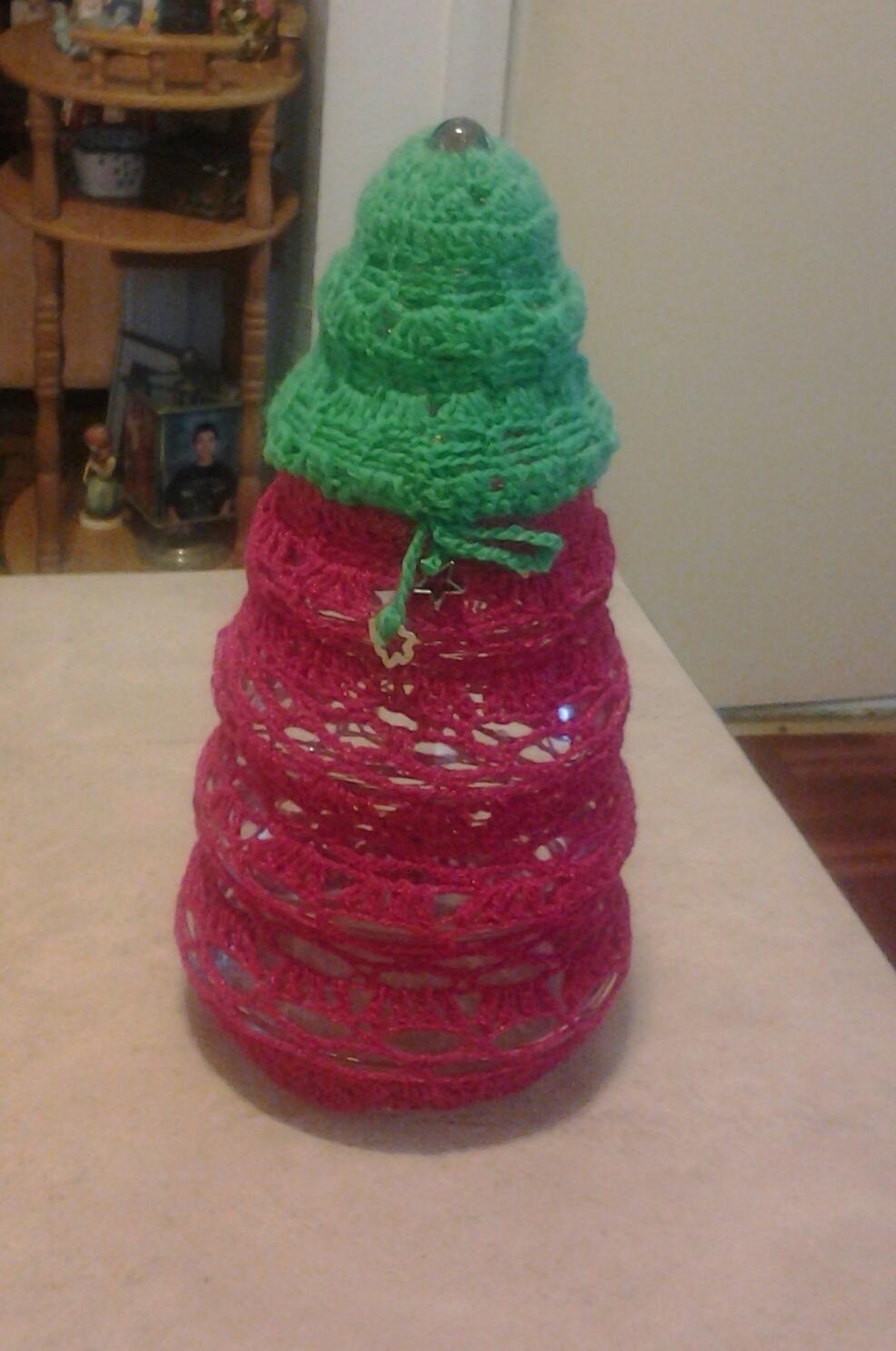 glass jar liner shaped Christmas tree