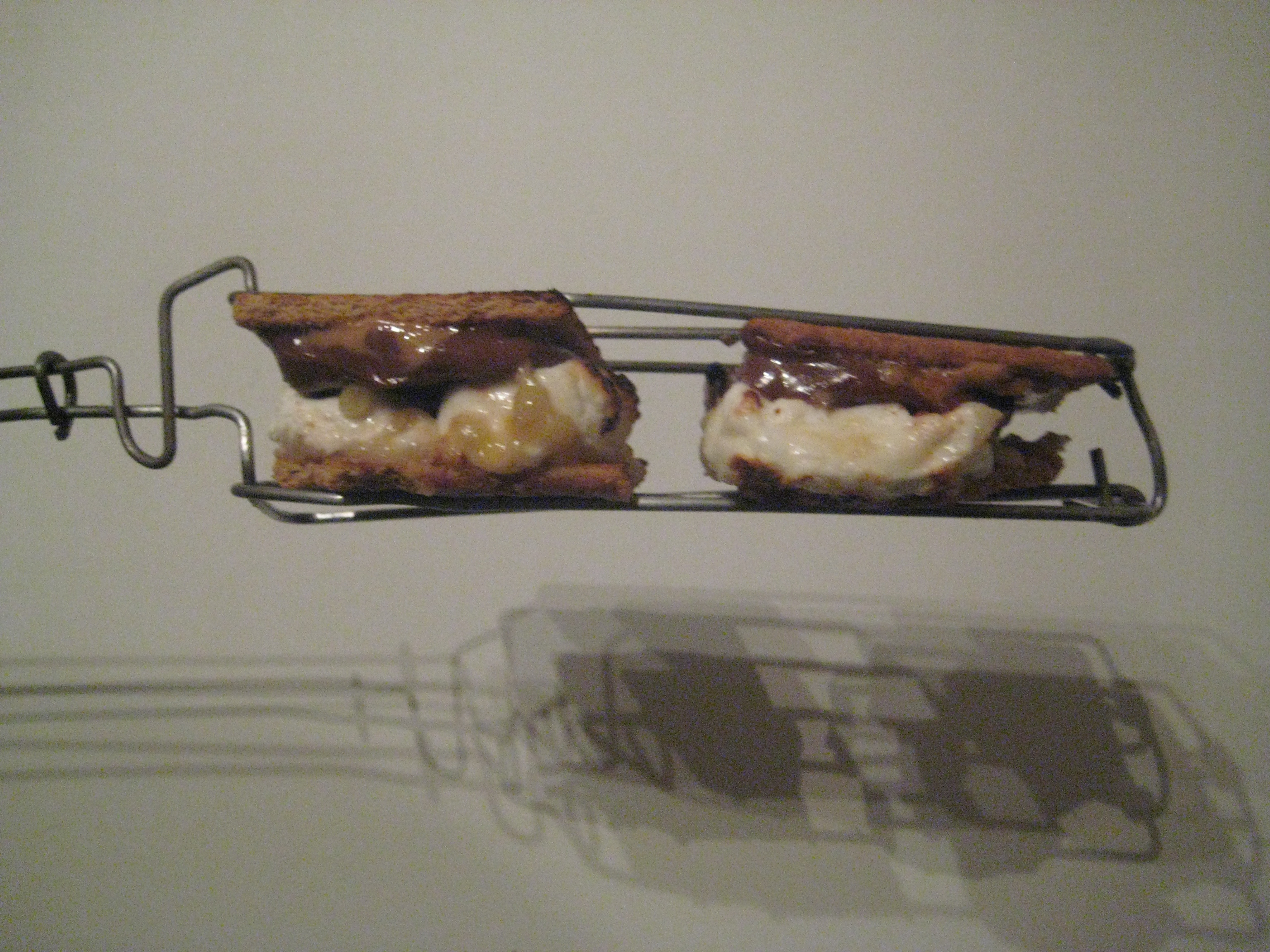 Smores Grilling Tongs from Wire Clothes Hangers