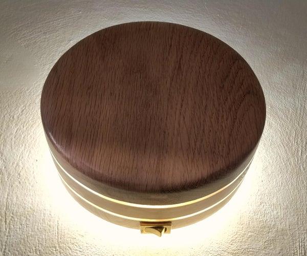 Round Wood Wall Plug-in LED Lamp | Portable Circle Wood Socket Plug Night Lamp