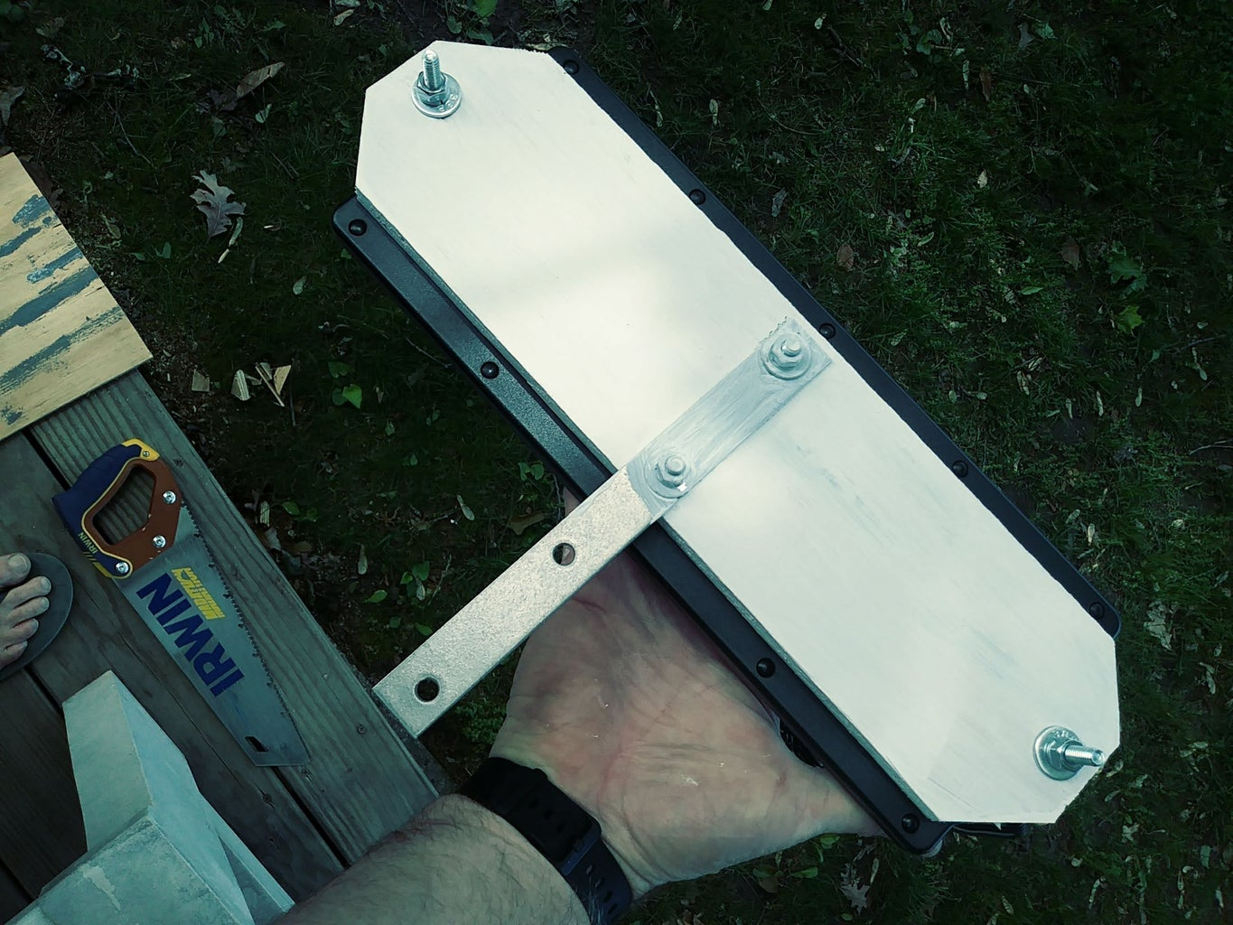 Mount the Solar Panel to the Wooden Base