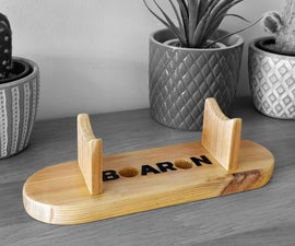 Simple Small Desktop Wooden Stand / Holder for Different Purposes