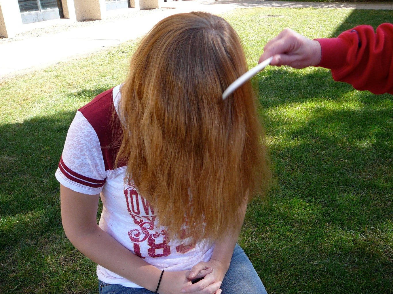 Comb Hair From Center