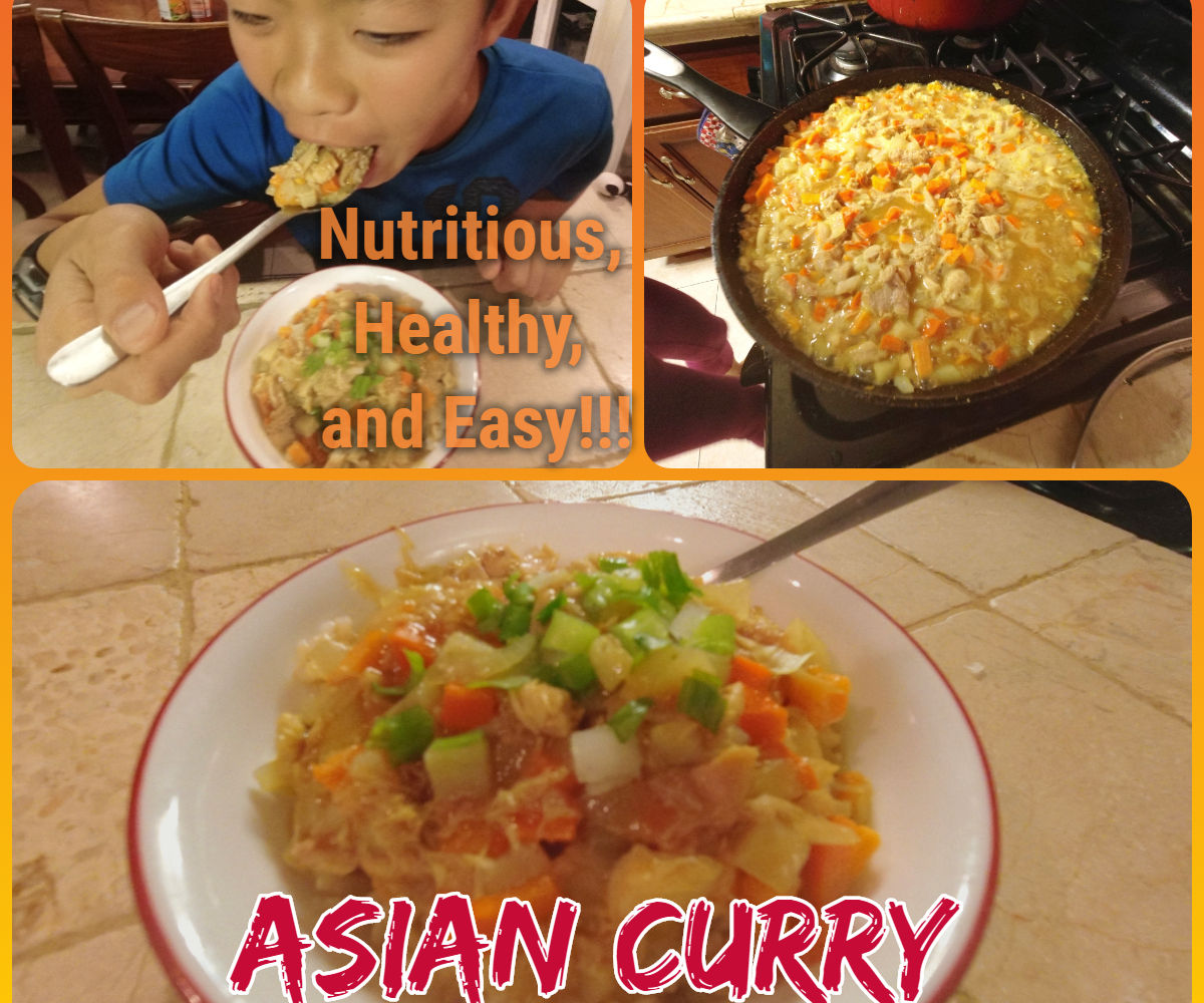 Delicious Asian Curry With Rice (Food Prep for the Entire Week)