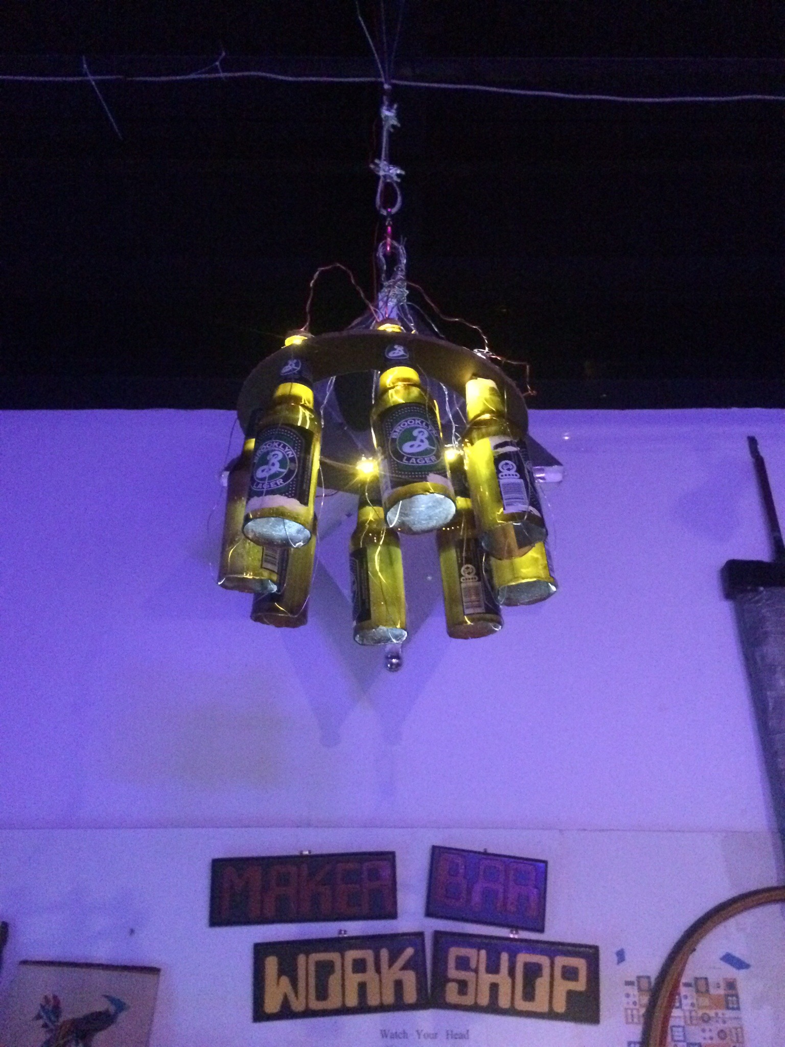 ChandiliBeer: The LED Beer Bottle Chandelier