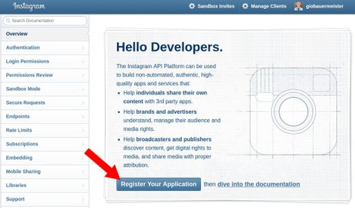Enabling Your Instagram Developer Account