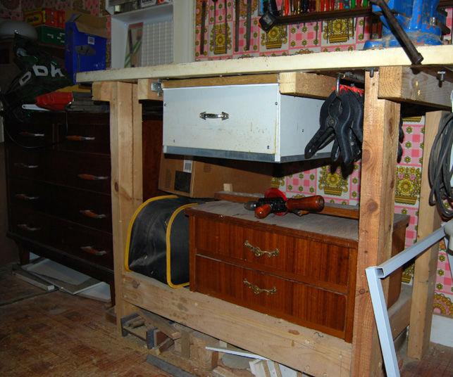 De puerta de nevera a banco de trabajo - With Door refrigerator, a workbench