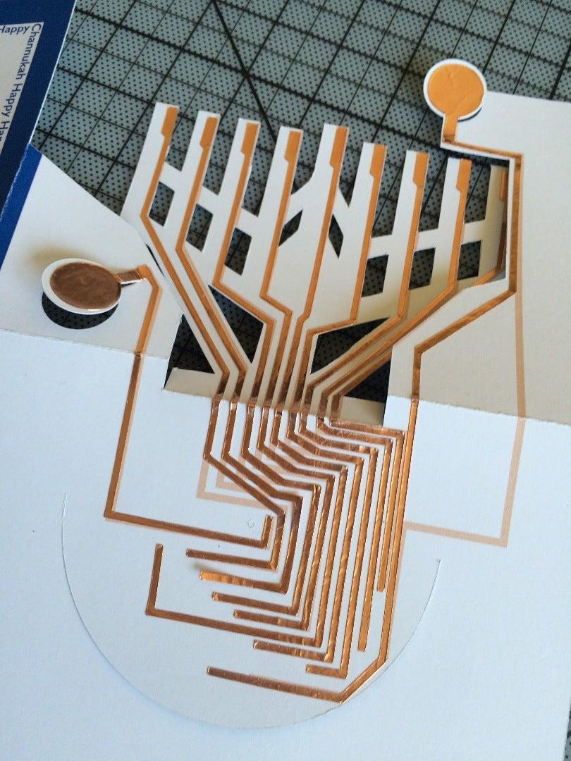 Cut and Glue the Copper Circuit