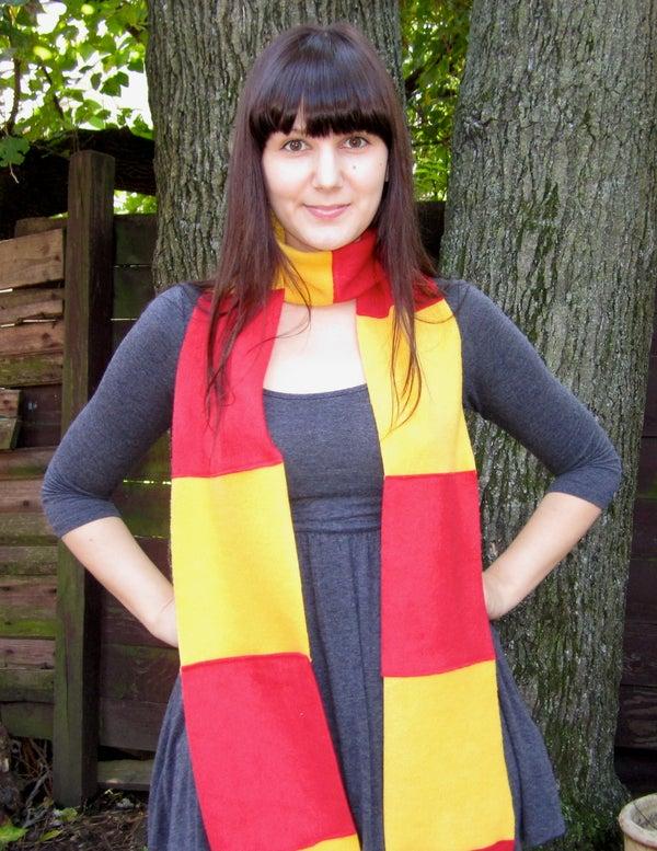Sew a Gryffindor Scarf!