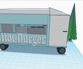 I Made a Hot-durger Truck Basically It Is a 3D Truck That Is Able to Be Played With