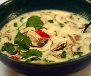 Tom Kha Gai -- Thai Coconut Soup
