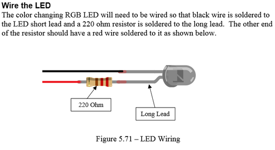 Construction - Wire the LED