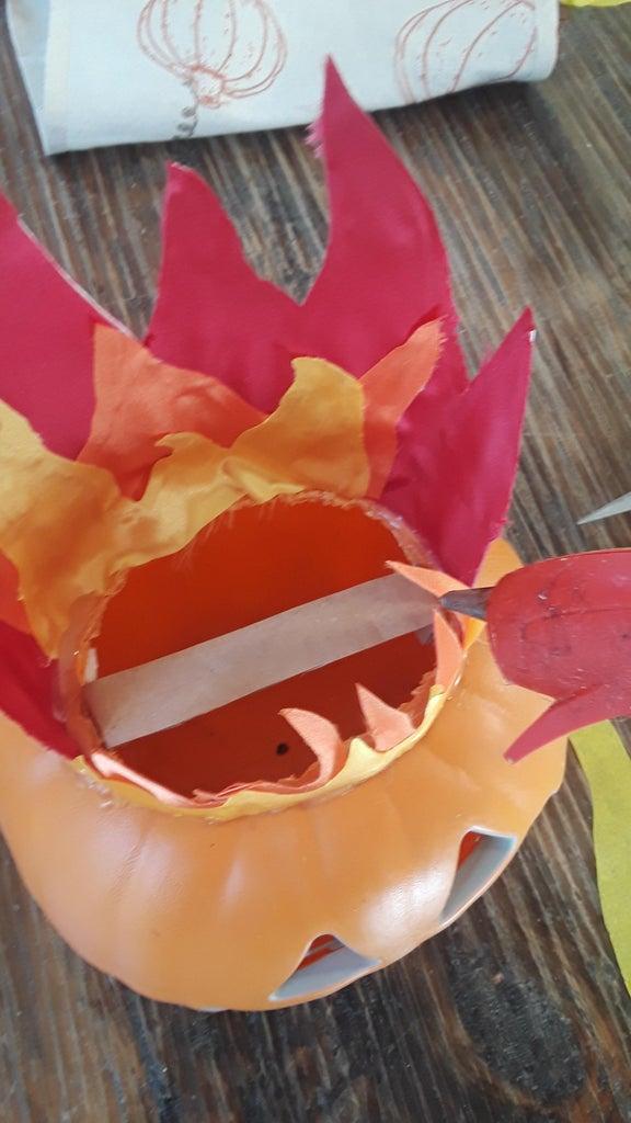 Step 8 Jack 'O Lantern Fan