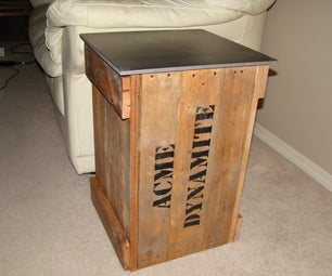 """""""Dynamite Crate"""" End Table From Old Pallet"""