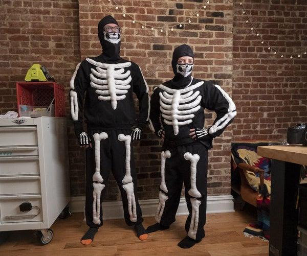 Skeleton Sweatsuit Halloween Costume