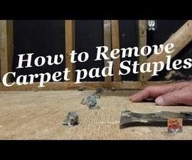 How to Remove Carpet Staples