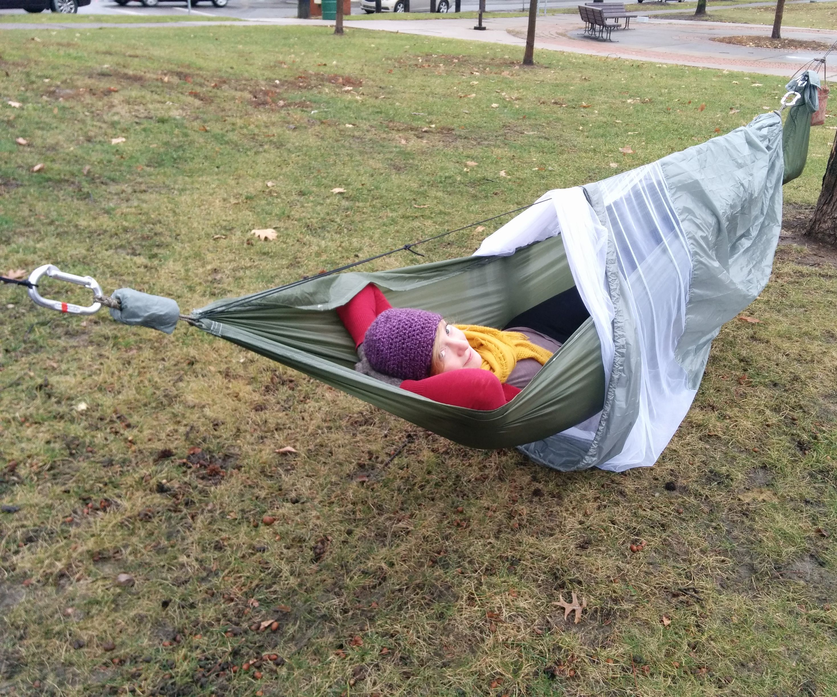Complete Camping Hammock with Screen and Rainfly