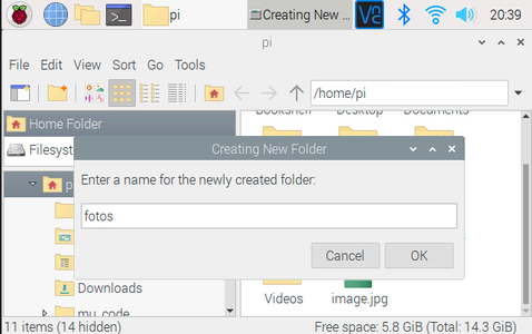 Folder to Store the Pictures