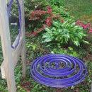 """Purple Rain Drop"" Kinetic Art from Bicycle Rims"
