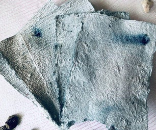 Naturally Dyed Recycled Indigo Butterfly Pea Flower Paper!