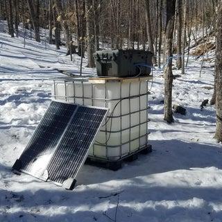 Off Grid Solar Powered Maple Sap Vacuum System